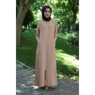 Women's Zipped Modest Full Coat